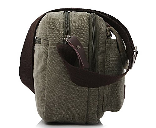Bolsos Viajar Verde hombro Style Satchel Bolsas de cruzados GMXBB181120 Lona AgooLar Mujeres qPxwF7RIE