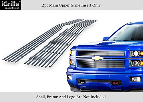 APS For 2014-2015 Chevy Silverado 1500 Reg Model Stainless Steel Billet Grille (Silverado Stainless Steel Billet Grille)