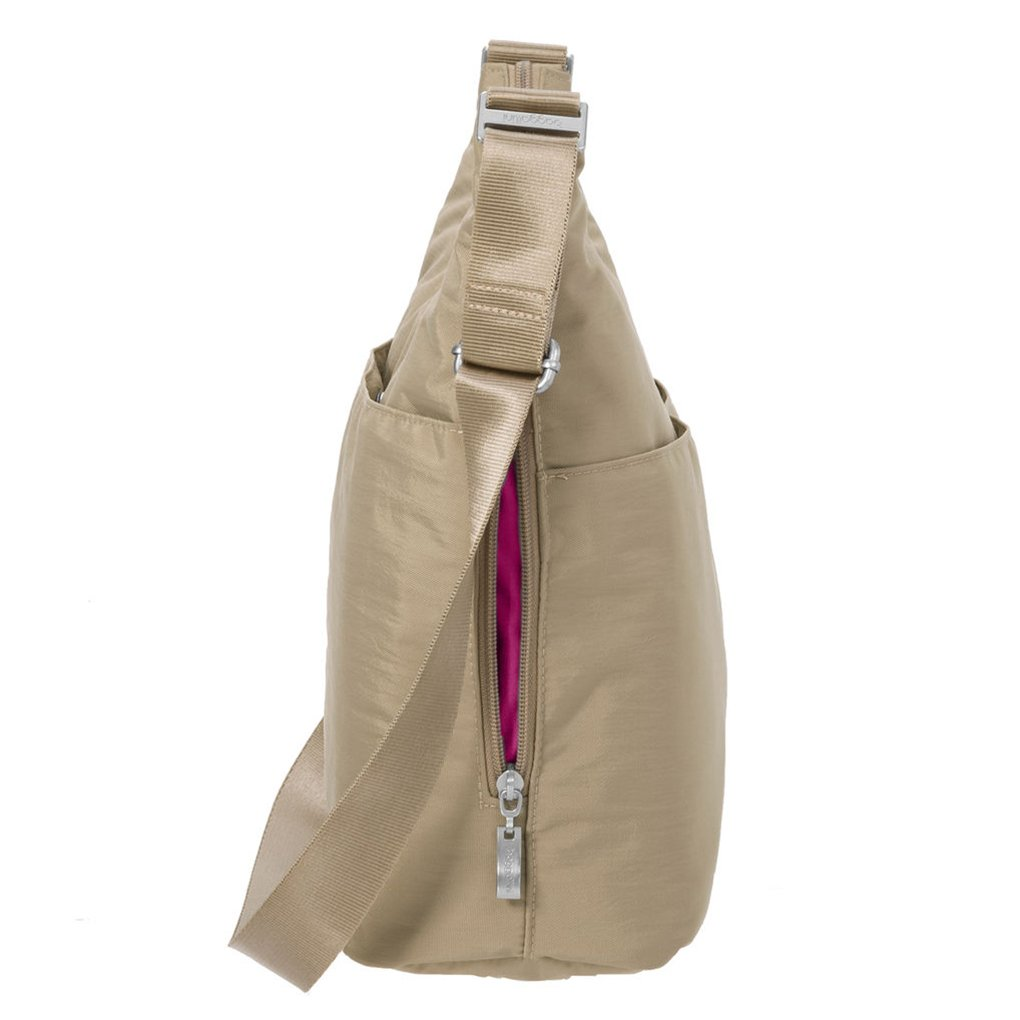 Beach Baggallini Hobo Tote Crossbody Handbag Functional Pockets and Key Chain