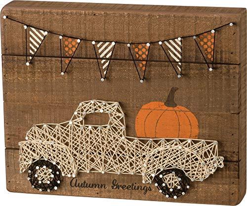 Primitives by Kathy Slat String Art Box Sign, Autumn Greetings]()