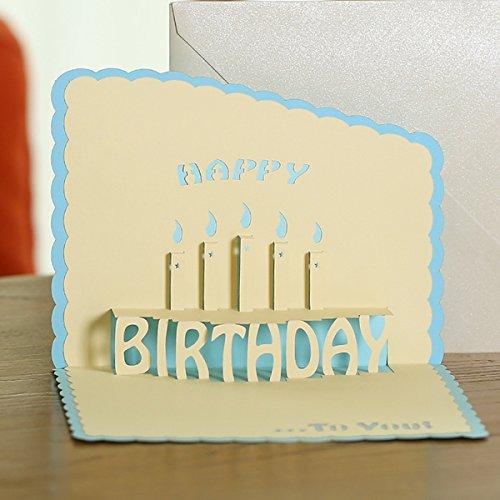 actasy Tech] 3d Creative cumpleaños tarjeta con sobre de ...