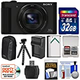 Sony Cyber-Shot DSC-HX90V Wi-Fi GPS Digital Camera with 32GB Card + Battery + Charger + Case + Flex