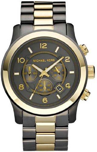 Michael Kors MK8160 - Reloj para hombre con correa de acero, color negro / gris: Amazon.es: Relojes