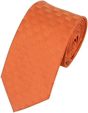 Salutto Mens Classic Check Grid Tie Polyester Formal Necktie