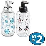 Best MetroDecor Bathroom Vanities - mDesign Holiday Christmas Foaming Soap Dispenser Pumps Review