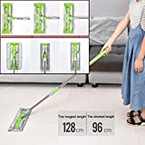 Coohole Rotatable Head Professional 360° Microfiber Dust Mop for Hardwood Laminate Floor - Wet & Dry - Telescopic Handle Push Mop Floor Cleaner Home Cleaning Tools,15.8X5.1inch (Green)