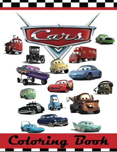 Cars Coloring Book: This 80 Page Childrens Coloring Book has images of Lightning McQueen, Tow Mater, Doc Hudson, Sally Carrera, Fillmore, Sarge, Luigi ... Strip