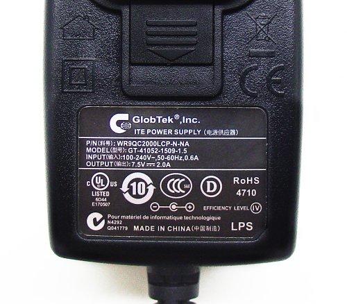 AC - DC ADAPTER 7.5VDC @ 2 AMPS, 2.5MM DC POWER PLUG + CENTER