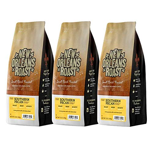 New Orleans Roast Coffee & Tea Southern Pecan, 12 Oz, Pack of 3 (Best Drinks In New Orleans)