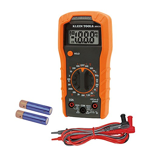 Digital Multimeter, Manual-Ranging, 600V Klein Tools MM300