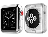 For Apple Watch Screen Protector Case, top4cus Scratch-resistant Soft Flexible TPU Lightweight All-around Protective Cover Case for Apple iwatch (Series 3 Series 2) - Clear, 42mm