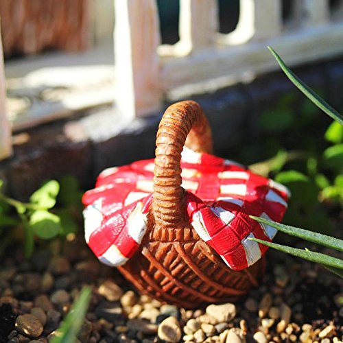 Miniature Fairy Garden or Dollhouse PICNIC BASKET (NEW) - My Mini Garden Dollhouse Accessories for Outdoor or House Decor
