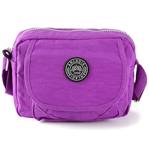 Shoulder Small Womens Messenger Nylon Bag Bag Purple Cqxvqwd0