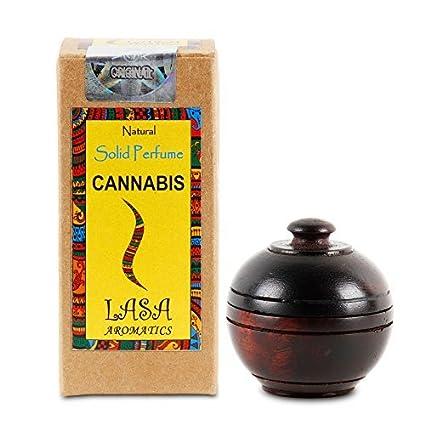 Lasa Aromatics Cannabis natürliche feste Parfüm Körper Moschus in Holzgefäß - 6 g