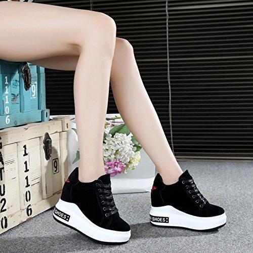 alto basa il turismo spesso donna da con alti invisibile black dentro tempo dodici scarpe HBDLH libero scarpe uno spessore di da centimetri tacchi ginnastica primavera cqagOw6