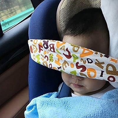Beb/é Soporte Cabeza,Soporte Seguridad de la Cabeza para ni/ños dormir en Coche Cochecito Seguridad Ajustable Suave para los Beb/és Newin Star coche
