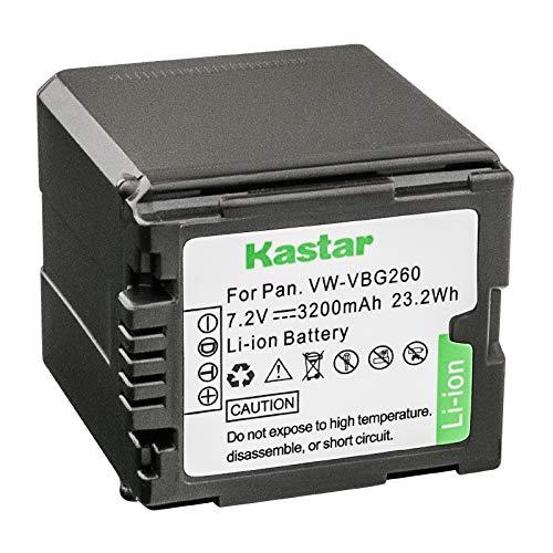 - Kastar Battery for Panasonic VW-VBG070, VW-VBG130, VWVBG260 Battery and Panasonic SDR-H40, SDR-H80 Series, HDC-HS700, TM700, HS300, TM300, HS250, SD20, HS20, HDC-SDT750 Camcorders etc.