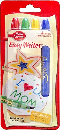 Betty Crocker Decor 4-Easy Writer, 0.15 0z, 4 (Icing Writer)