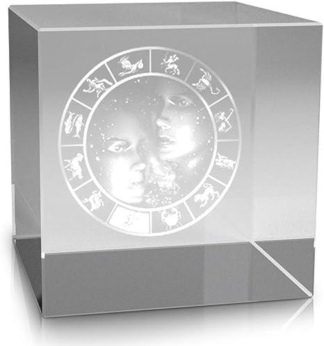 VIP-LASER 3D Glaskristall Quader XL Horoskop Sternzeichen JUNGFRAU