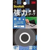 3M スコッチ 強力両面テープ 防水用 15mm×1.5m KWP-15