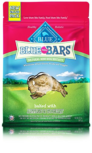 Biscuit Yogurt (BLUE Mini Bars Apple & Yogurt Biscuit Dog Treats 20-oz)