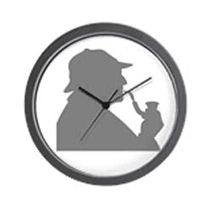 Amazon.com  CafePress - Sherlock Holmes Profile Wall Clock-in Gray ... 6cd3d6faf66f