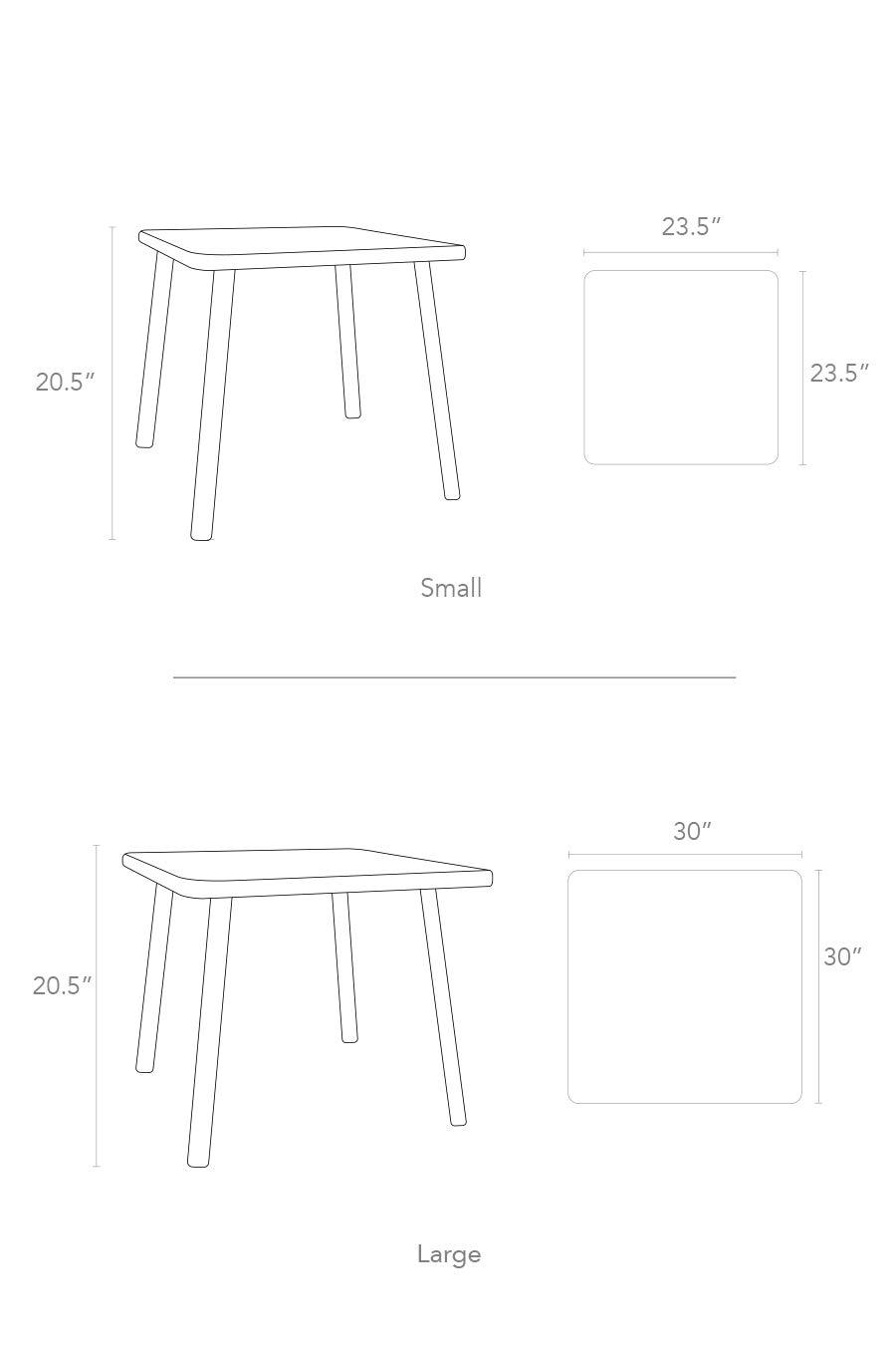 Amazon.com: Nico & Yeye Tippy Toe - Mesa cuadrada para niños ...