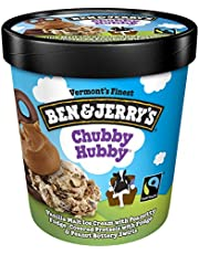 Ben & Jerry's - Vermont's Finest Ice Cream, Non-GMO - Fairtrade - Cage-Free Eggs - Caring Dairy - Responsibly Sourced Packaging, Chubby Hubby, Pint (4 Count)