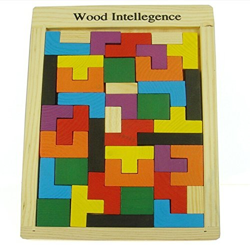 World Famous Wooden educational jigsaw puzzle toys woolpuzzles gift Tetris GameStyle Wooden Building children's educational (Famous Duo Costumes)