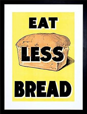 Amazon.com : AD WAR WWII UK EAT LESS BREAD LOAF RATION FOOD Framed ...