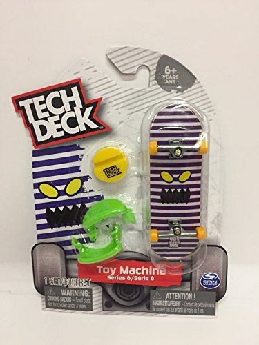 Tech Deck Series 6 Toy Machine Fingerboard Toy (Integral Clip)