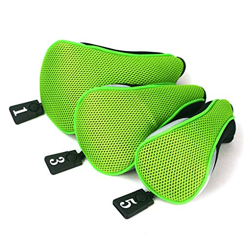 3Pcs Club Heads Cover Soft Wood Golf Club Driver Headcovers Golf Head Covers Protect Set