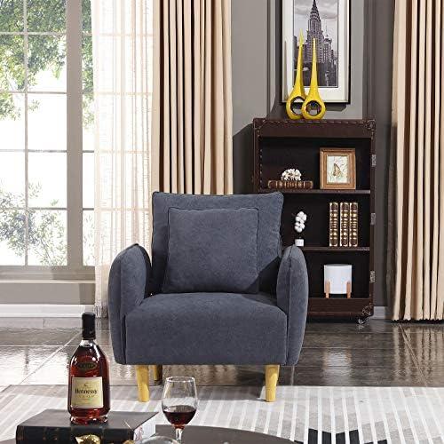 Unihome Fabric Accent Chair Decorative Arm Chair Modern Sofa Chair