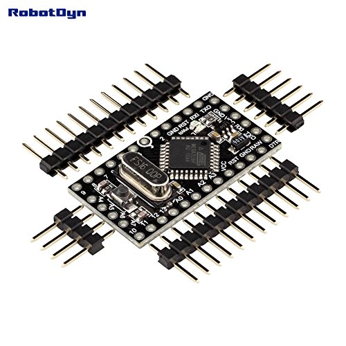 RobotDyn - Pro Mini ATmega328 (5V, 16MHz), + A6-A7 pins - Enhanced version, Compatible for Arduino Pro (16 Mhz System)