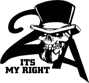 Amazon.com: 2nd Amendment Its My Right To Bear Arms Skull