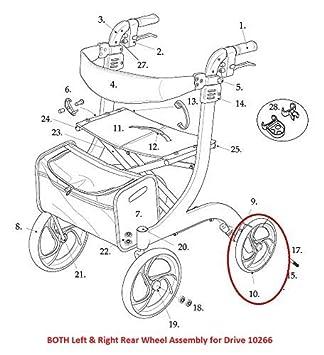Amazon.com: Izquierda y Derecha rueda trasera conjuntos con ...