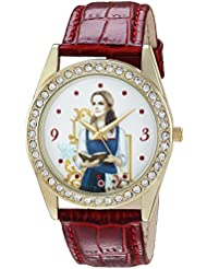 Disney Womens Beauty Quartz Metal Casual Watch, Color:Red (Model: WDS000315)