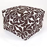 Majestic Home Goods Chocolate Plantation Ottoman, Large