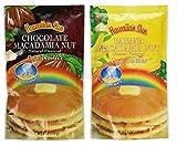 Hawaiian Sun 2 Pack Pancake Mix: Chocolate Macadamia and Banana Macadamia Nut