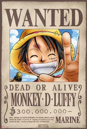 one piece luffy wanted poster