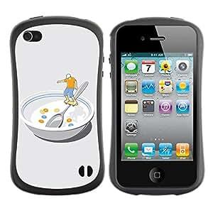 Hybrid Anti-Shock Bumper Case for Apple iPhone 4 4S / Skater In Bowl