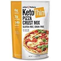 "Keto Thin Pizza Crust Mix (Low Carb | Gluten-Free | Grain-Free) (Makes One 14"" Or Two 10"" Pizzas) (Single Pack)"
