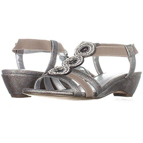 Karen Scott Frauen Casha Offener Zeh Besonderer Anlass Sandalen mit Keilabsatz Pewter