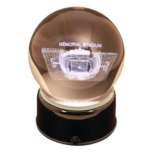 NCAA Clemson Tigers Memorial Stadium Tigers Etched Lit Musical Turning Crystal ()