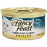 Fancy Feast Grilled Turkey Feast In Gravy Canned Cat Food 24 - 3oz Cans