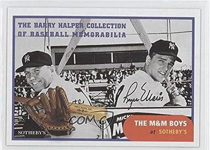 Amazoncom Mickey Mantle Roger Maris Baseball Card 1999 Barry