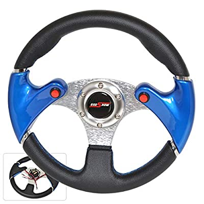 Rxmotor Universal Fit 320mm JDM Battle Racing Steering Wheel New - Acura Honda Toyota Mazda Mitsubishi etc (Nos Blue): Automotive