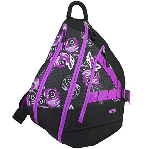 UPC 091074075346, Eastsport Triple Zip Sling Bag, Lightning Floral