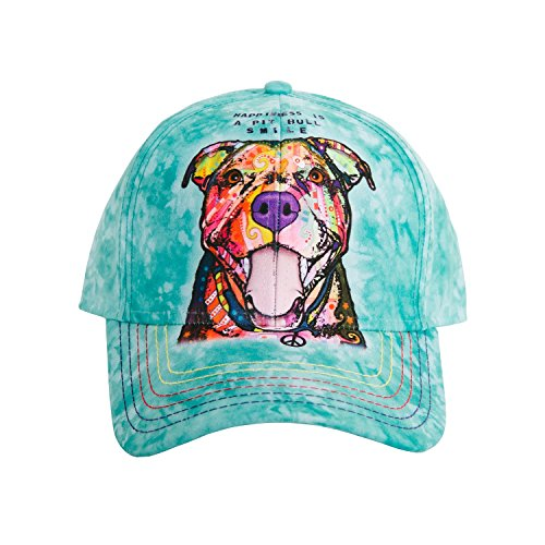 The Mountain Unisex-Adult's Pit Bull Smile Baseball Cap, Teal, Adjustable