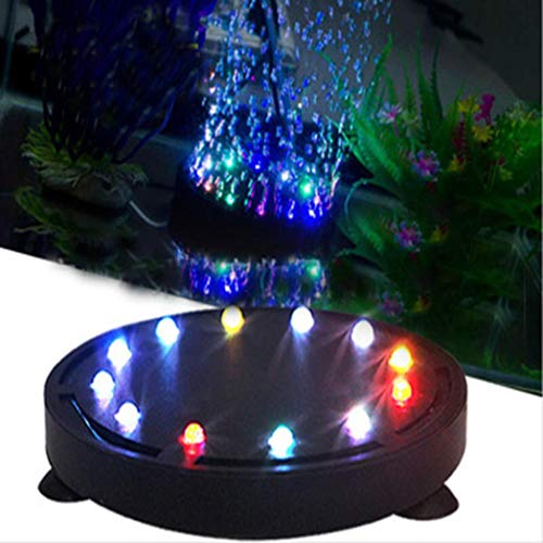 - Rumas 12LEDs 12 Colors Bubble Lights Aquarium Ornament - Submersible Air Bubble Light for Fish Tank - LED Aquarium Light - Fish Tank Decoration (Black)
